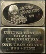 Mother Means Love 1974' Art Bar by United States Silver Corp.. THUMBNAIL