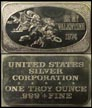 Be My Valentine 1974' Art Bar by United States Silver Corp.. THUMBNAIL