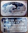 Save The Grizzly' Art Bar by United States Silver Corp..