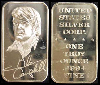 Glen Campbell' Art Bar by United States Silver Corp..