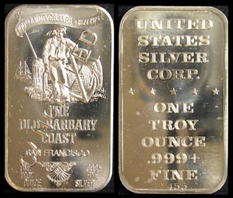 Old Barbary Coast - canceled' Art Bar by United States Silver Corp..