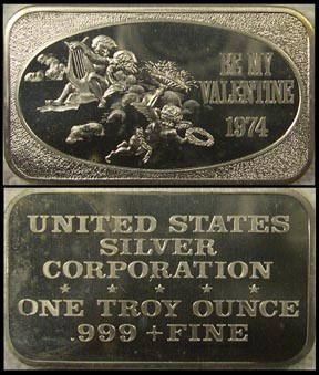 Be My Valentine 1974' Art Bar by United States Silver Corp.. MAIN