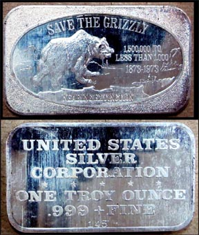 Save The Grizzly' Art Bar by United States Silver Corp.. MAIN