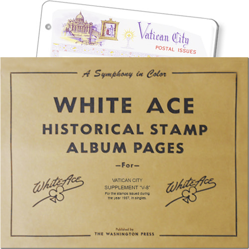 White Ace Supplement - Vatican City, 'V8', 1957 MAIN