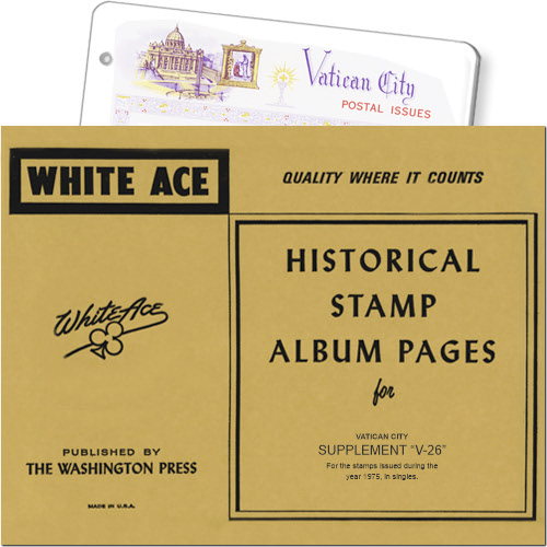 White Ace Supplement - Vatican City, 'V26', 1975 MAIN