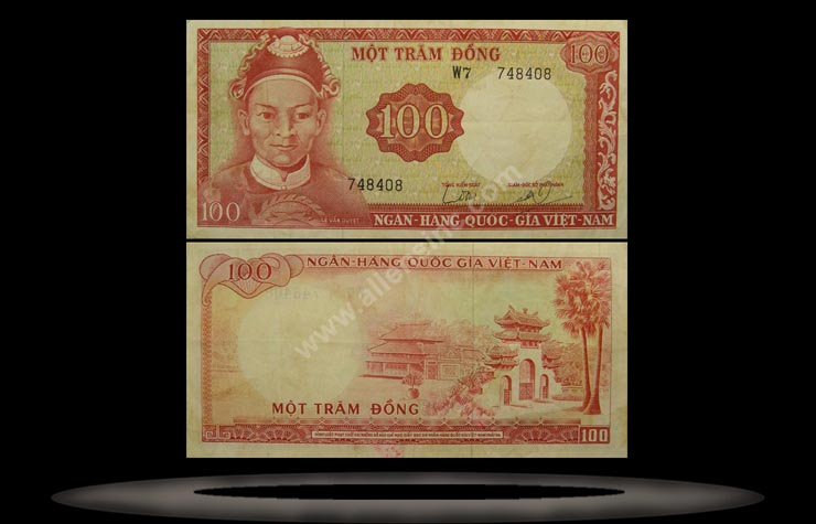 Vietnam, South Banknote, 100 Dong, ND (1966), P#19a