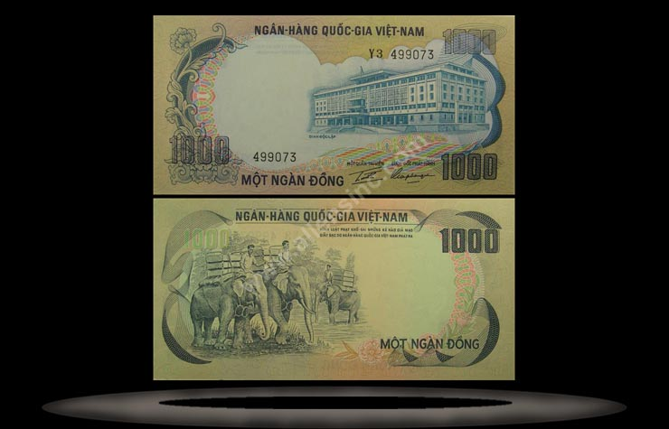Vietnam, South Banknote, 1000 Dong, ND (1972), P#34a MAIN
