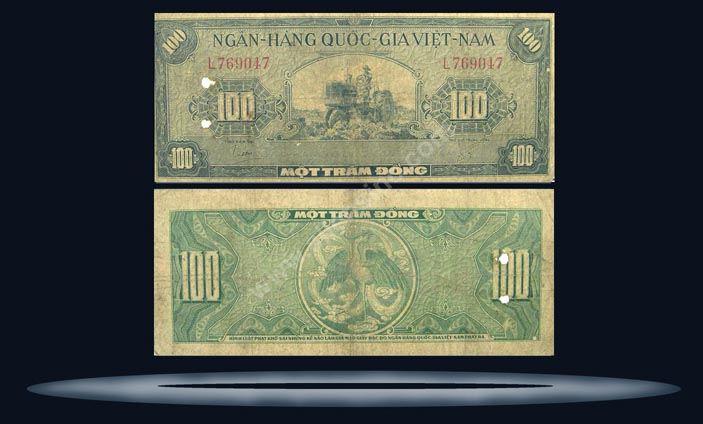 Vietnam, South Banknote, 100 Dong, ND (1955), P#8a