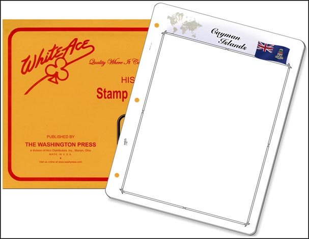 White Ace 'Countries of the World' Stamp Pages for the Cayman Islands MAIN