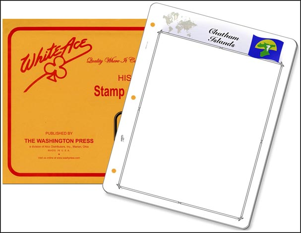 White Ace 'Countries of the World' Stamp Pages for the Chatham Islands MAIN