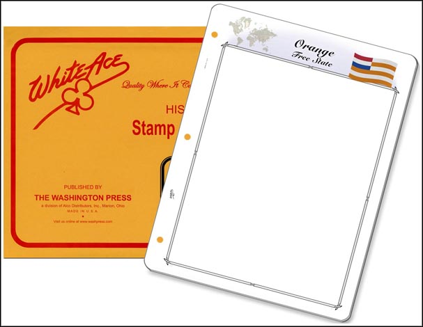 White Ace 'Countries of the World' Stamp Pages for Orange Free State MAIN