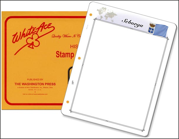 White Ace 'Countries of the World' Stamp Pages for Seborga MAIN
