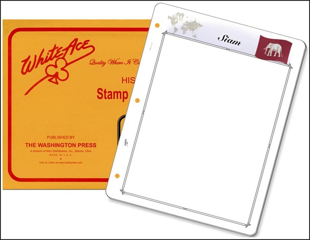 White Ace 'Countries of the World' Stamp Pages for Siam MAIN
