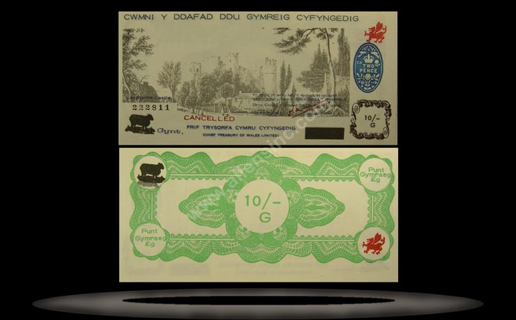 Welsh Black Sheep Company, Wales Banknote, 10 Shillings, 9.10.1969, P#103