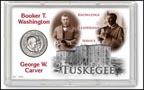 Booker T. Washington and George Washington Carver Commemorative Half Dollar Display THUMBNAIL