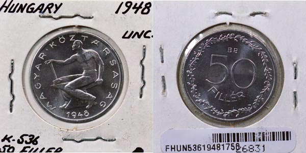 Hungary, 1948 BP 50 Filler, Cat# 536