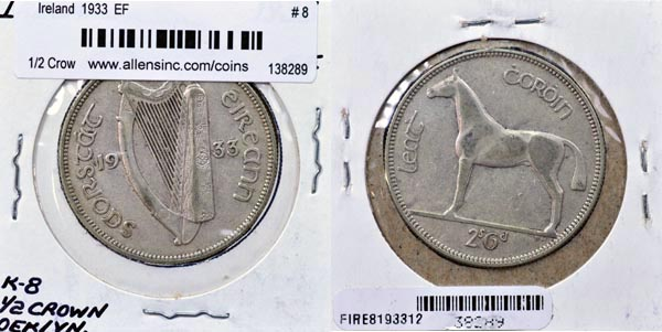 Ireland, 1933 1/2 Crown, Cat# 8