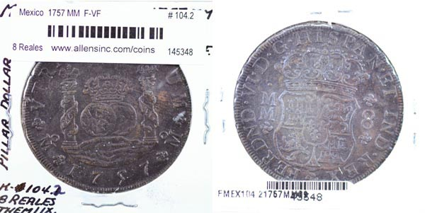 Mexico, Spanish Colony, 1757 MM 8 Reales, Cat# 104.2