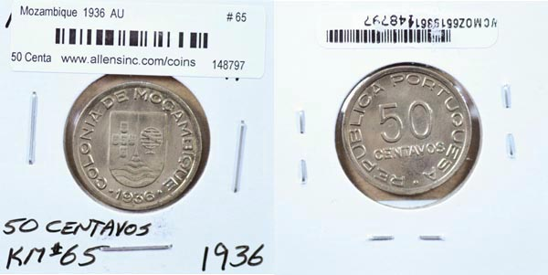 Mozambique, 1936 50 Centavos, Cat# 65