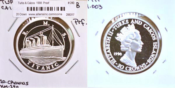 Turks & Caicos Islands, 1998 20 Crowns, Cat# 240