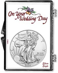 2020 Wedding Day American Silver Eagle Gift Display THUMBNAIL