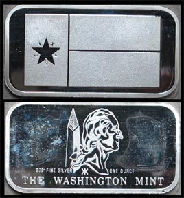 Flag Series - Lone Star Flag' Art Bar by Washington Mint.