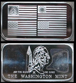 Flag Series - Four Flags' Art Bar by Washington Mint.