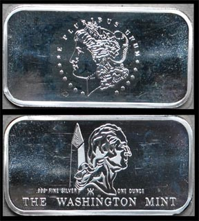Morgan Dollar' Art Bar by Washington Mint.