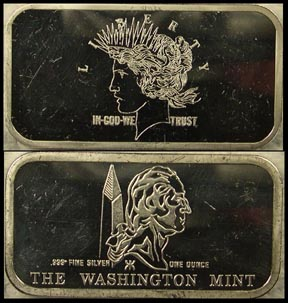 Peace Dollar' Art Bar by Washington Mint.