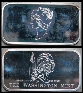 Mercury Dime' Art Bar by Washington Mint.