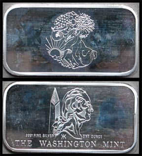 Walking Liberty' Art Bar by Washington Mint.