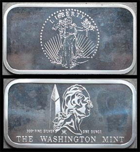 St. Gaudens Double Eagle' Art Bar by Washington Mint. MAIN