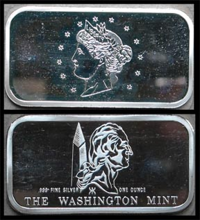 Liberty Nickel' Art Bar by Washington Mint.