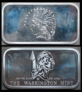 Indian Eagle' Art Bar by Washington Mint.