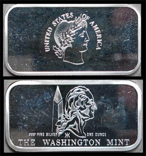 Barber Design' Art Bar by Washington Mint. MAIN