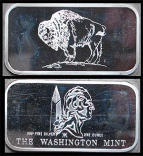 Buffalo Nickel' Art Bar by Washington Mint.