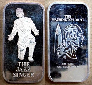 Jazz Singer - Al Jolson' Art Bar by Washington Mint.