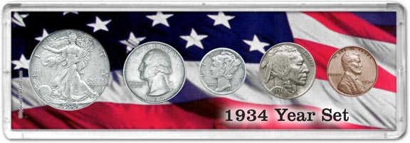 1934 Year Set Coin Gift Set LARGE