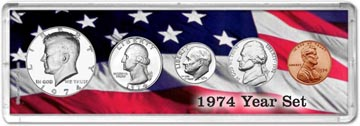 1974 Year Set Coin Gift Set THUMBNAIL
