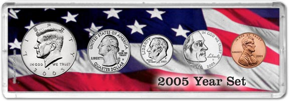 2005 Year Set Coin Gift Set LARGE