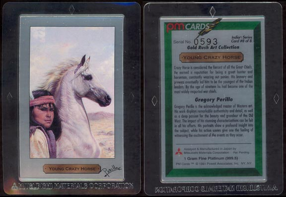 Young Crazy Horse by Gregory Perillo; 1 g 999.5 Platinum MAIN