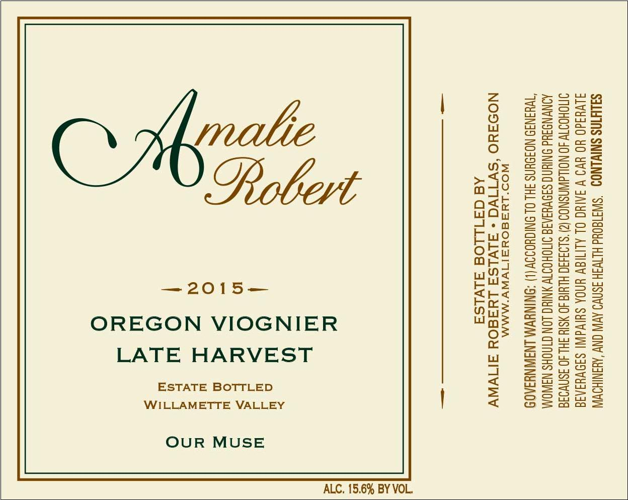 2015 Our Muse Viognier - Late Harvest (375 ml)