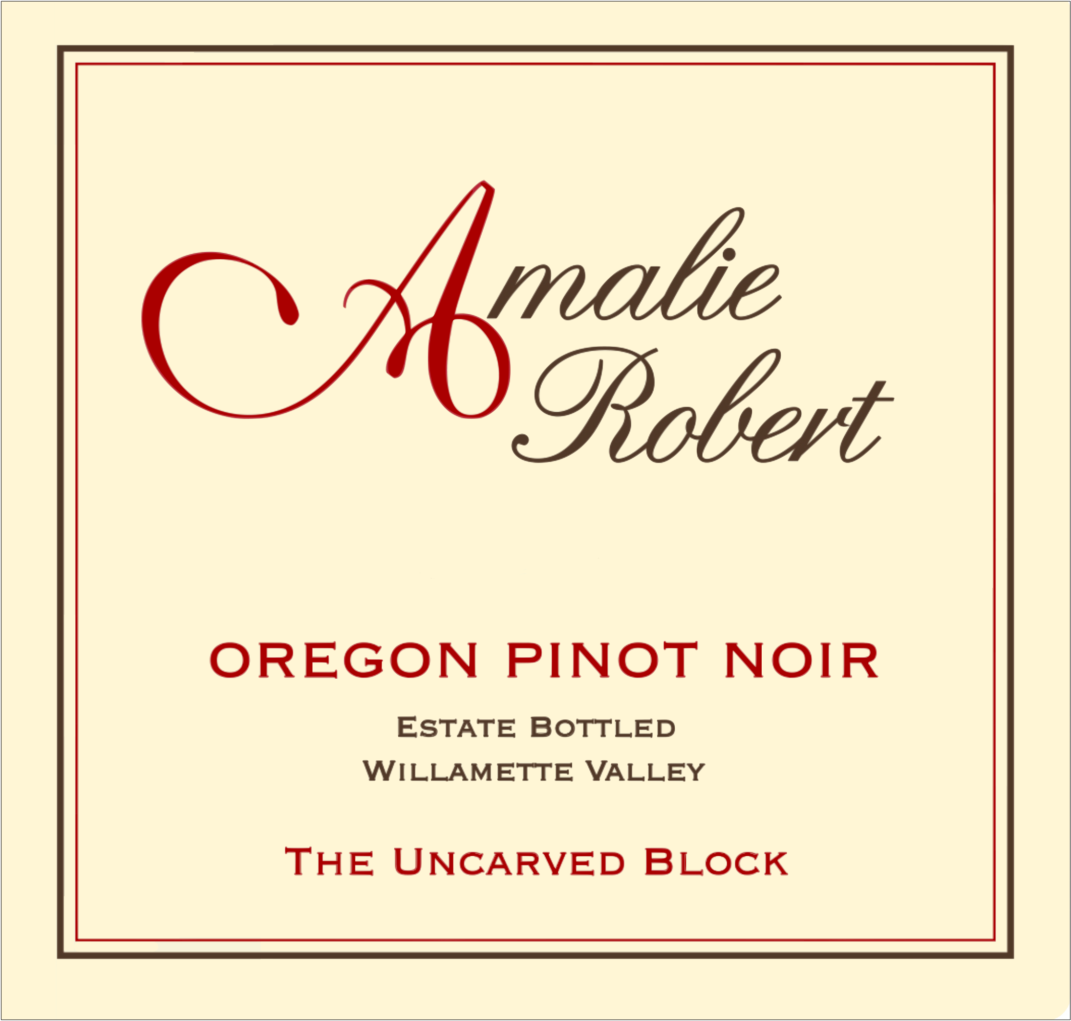 2012 The Uncarved Block Pinot Noir