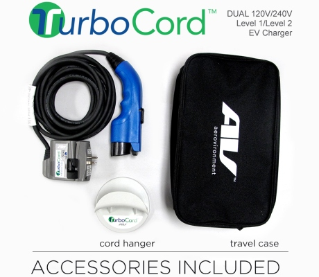 TurboCord Portable Dual-voltage EV Charger 16A Level 2
