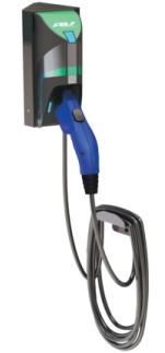 TurboDock 16-Amp Commercial/Workplace EV Charging Station with Wall Mount Kit, UL-Listed