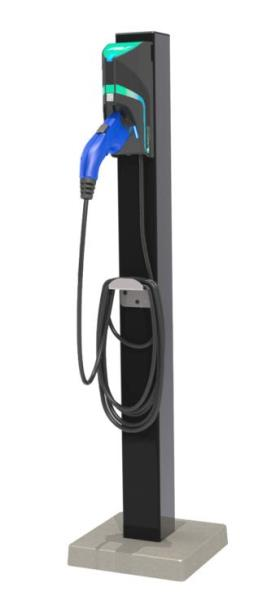TurboDock 16-Amp Commercial/Workplace EV Charging Station with Pedestal