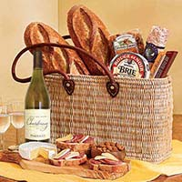 Napa Valley Picnic Tote with Parducci Chardonnay Wine. #438