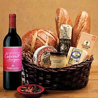 Taste of SF Gift Basket with Parducci Cabernet Sauvignon Wine. #532