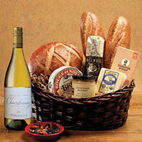 Taste of SF Gift Basket with Parducci Chardonnay Wine. #533