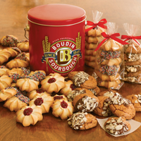 New!! Boudin Assorted Cookies in Red Tin (18) #588